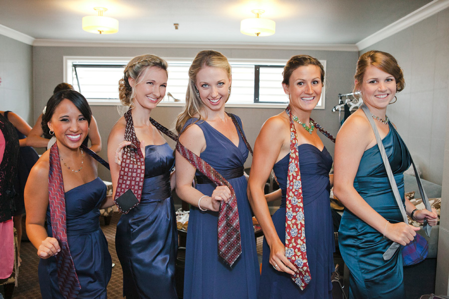 bridesmaids fun ties