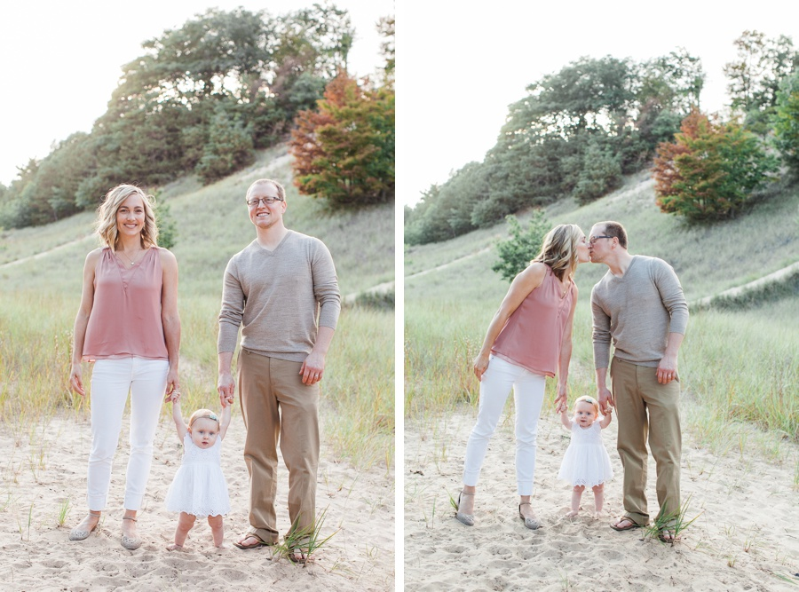 Family beach photography session in Grand Haven Michigan