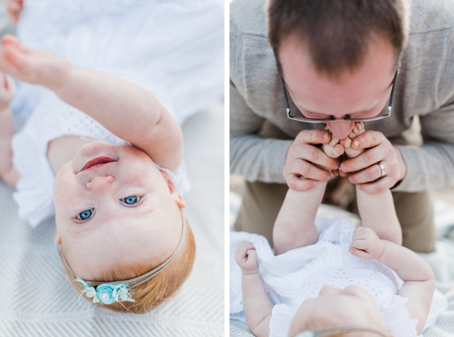 Dad and baby family session photography Grand Haven Michigan