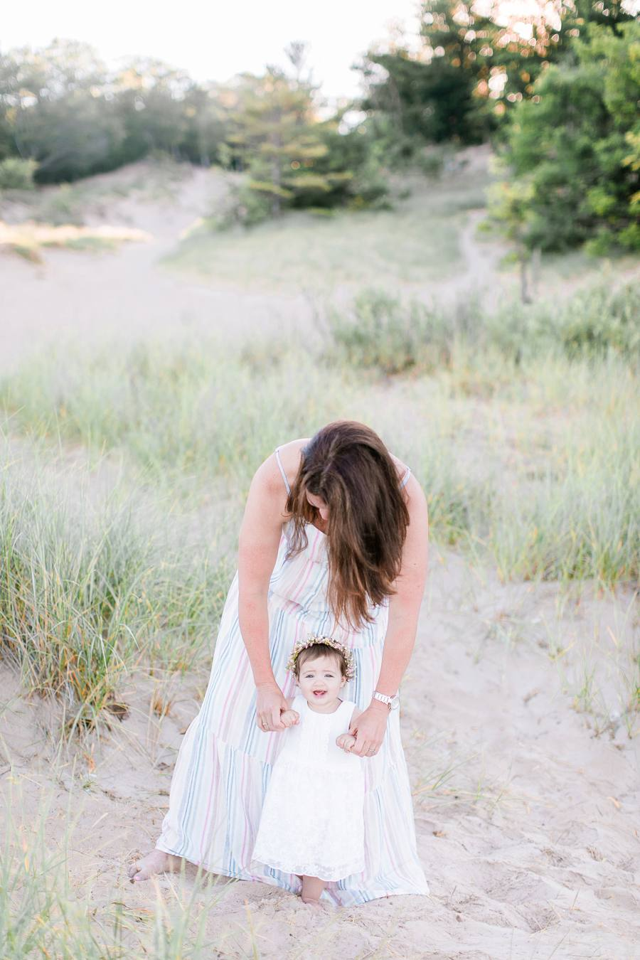 Mother and daughter MI beach family photography Elm & Olive