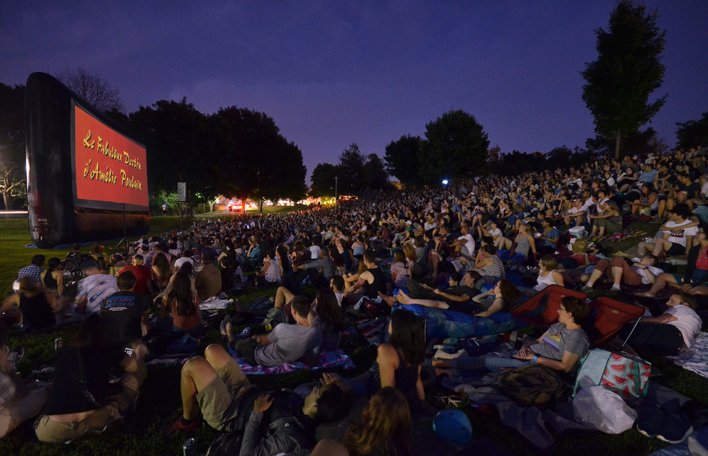 """There's something magical about hundreds of people sitting silently on a hill in Christie Pits, on blankets and inflatable furniture, watching a movie in the dark.""  - Toronto civic activist Desmond Cole, Twitter, 2018"