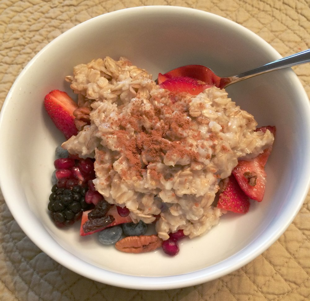 Oatmeal with fruit -  More Fruit than oatmeal