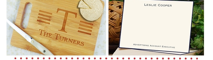 Personalized Gifts and Notes from Embossed Graphics - Super Fast Turnaround!