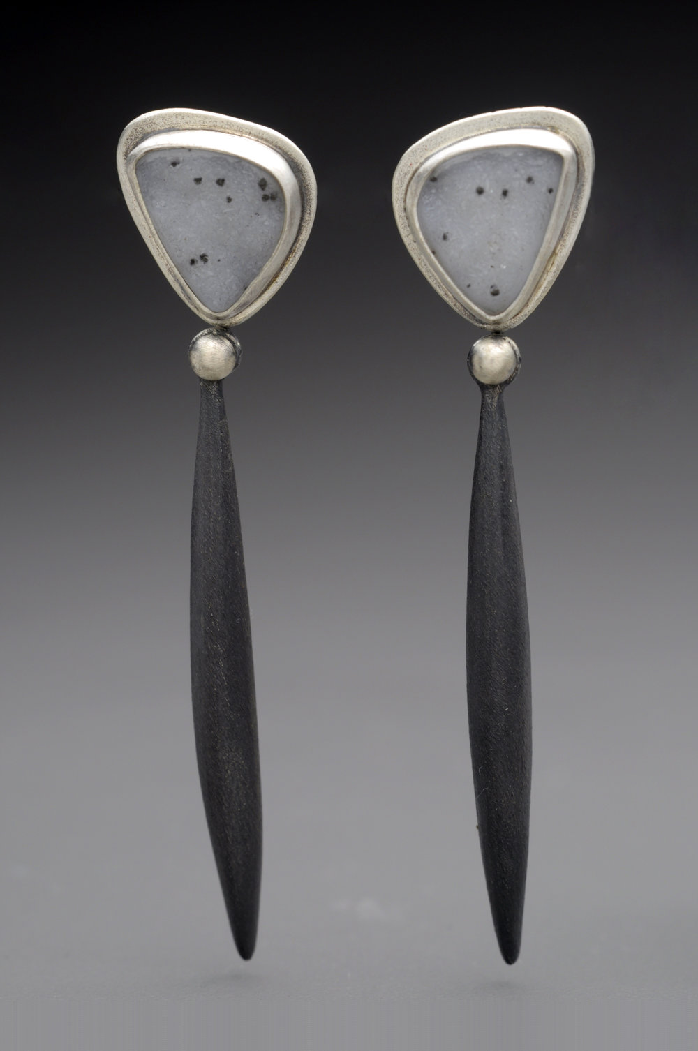 Drusy Black Pod Earrings.jpg