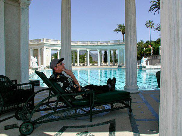 Edward Dee at Hearst Castle pool.jpg