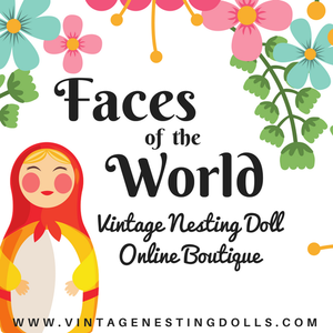 Faces of the World- Vintage Nesting Doll Boutique