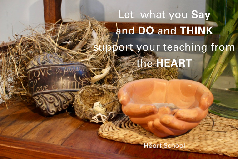 Teaching is a qualification from the HEART. Children need teachers who concentrate as much on WHO they are as WHAT they do. Let's strive for all of us to hand on heart say we are seeking and striving with all our heart to be the best we can be with children.
