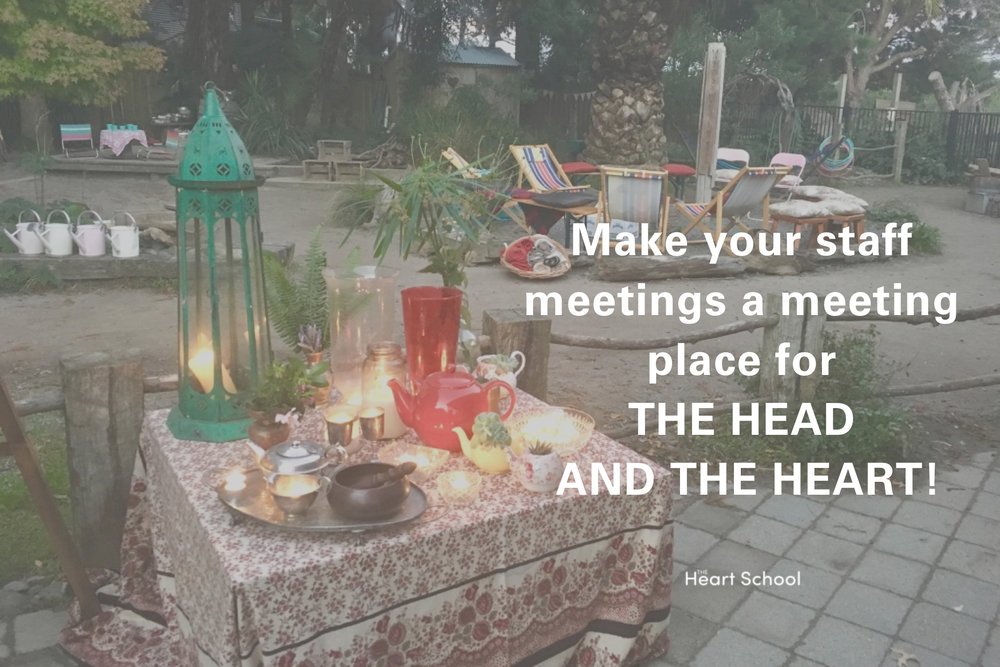 Meetings! We all have them. What are yours like?  Do you feel inspired after your meeting? Do you look forward to your meeting? Do you have a voice at your meeting? Is your meeting a place to grow? Does your meeting enrich your whole team?   Staff meetings can be so much more than a gathering to 'tick things of'. They can be a treasure trove for PD. When we consciously choose to spice up our regular staff meetings, we are avoiding the mindset of a once a year 'retreat' PD day.  We are putting inspiration, interest and bonding into our regular practice which will benefit everyone! Looking for inspiration and ideas? Check out our new Meetings with Heart toolkit.  https://www.heartschool.nz/meetings-toolkit