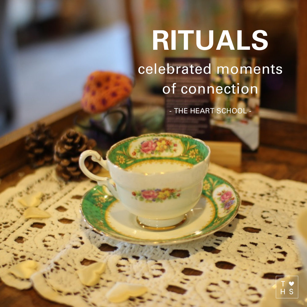 Rituals help with celebrating positive moments in our daily lives. They are a way of staying connected with the other members in our family. They mark special moments, big and small and recognise key times of belonging. Today have     a think about what rituals you have in your family. From patting the dog when you get home to Sunday brunch at the local cafe, a daily after dinner walk or a hot cuppa with your partner to reconnect after a busy work day. Rituals are celebrated moments of connection.