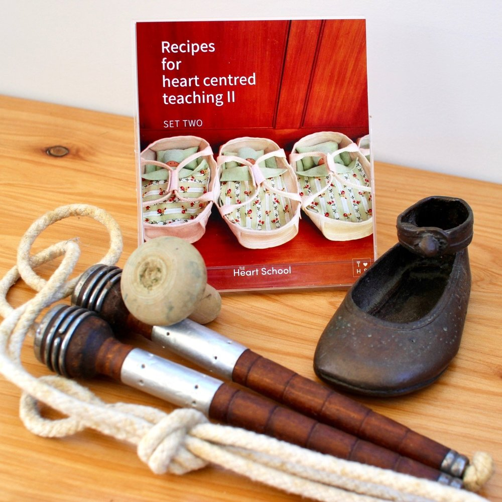 RECIPES FOR HEART CENTRED TEACHING II    - Set two    NZD $19.95 plus shipping (p&p)   More recipes for the heart-centred teacher, including ingredients for:  Calm and slow - Loose parts - Teacher development - Mealtimes - Kindness - Parents - Sustainability - Toddlers - Ready for School - Authenticity