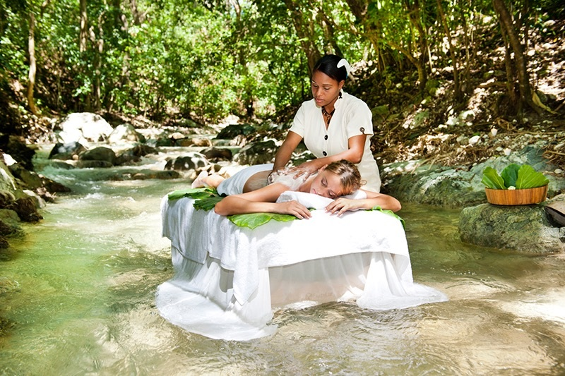 Massage in the waters of the Casa Bonita property...mmmmm... (hint: a massage is included in your trip fee)
