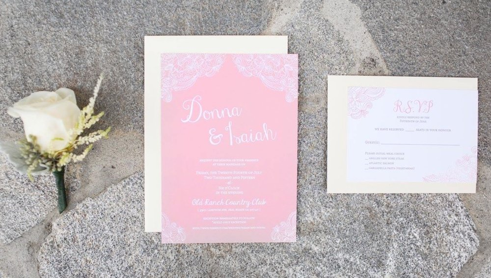 CUSTOM LACE - WEDDING INVITATION