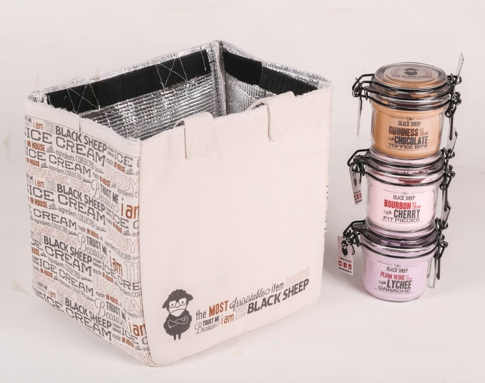 BLACKSHEEP ICE CREAM - PACKAGING