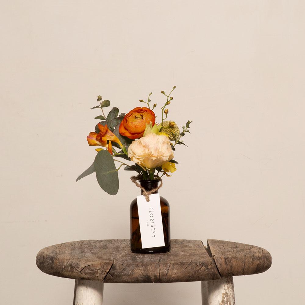 April's Gold Flower Jar