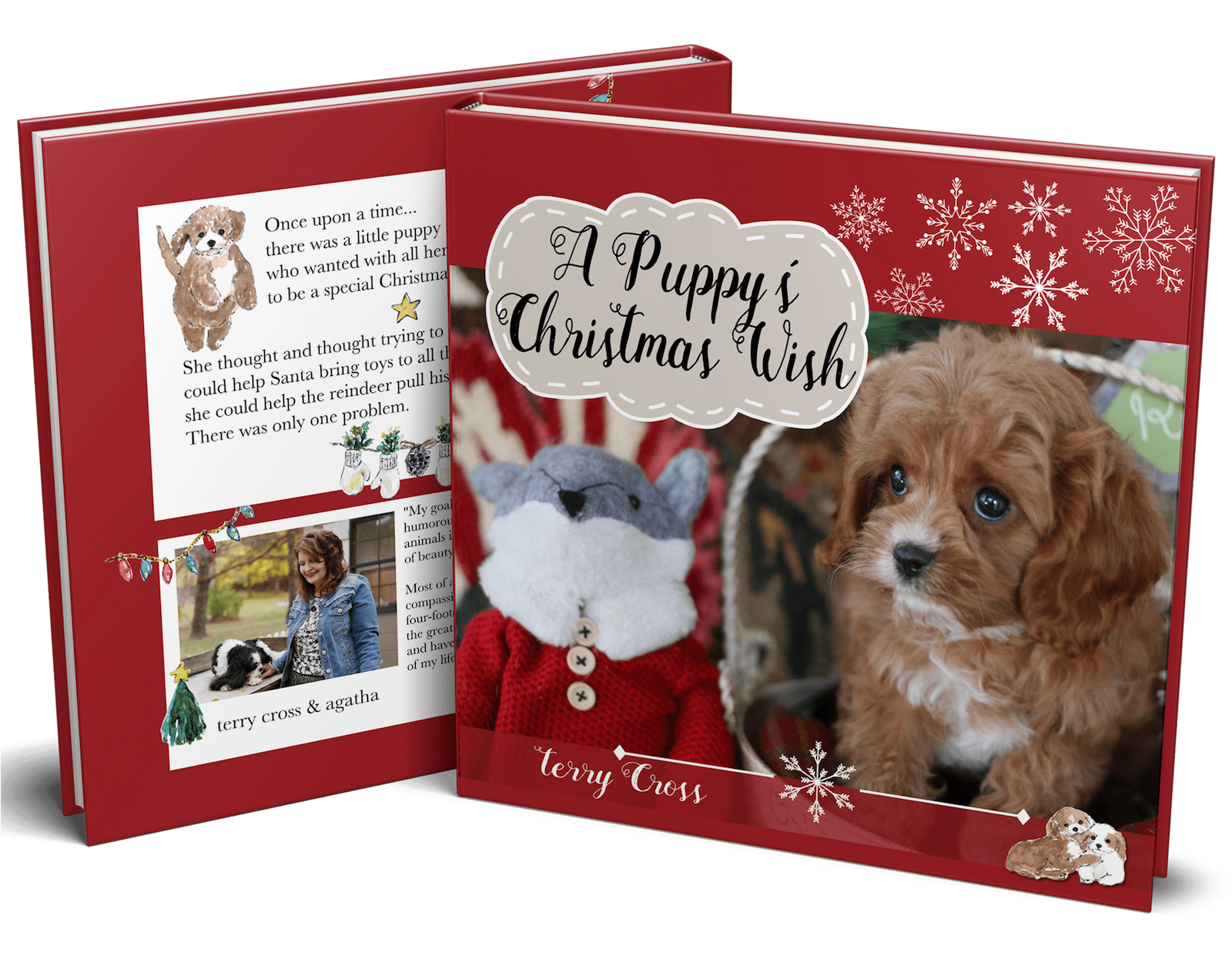 A Puppy For Christmas.A Puppy S Christmas Wish Hardcover Book Agatha S Pet Wellness