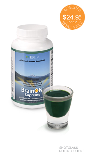 BrainON! AFA Algae extract - Use for at least 3 days before you know you have something high energy going on.Concentrated extract of E3Live AFA Algae; fast, noticeable results, contrast to long time results with the regular AFA algae.
