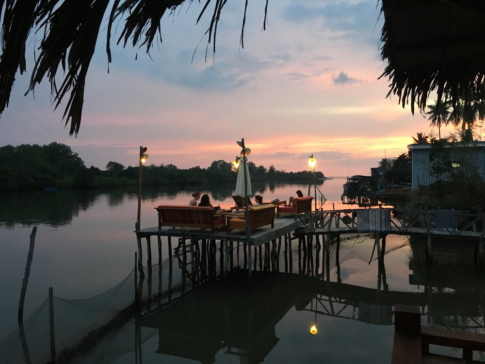 Sunset at The River Mouth (Dormstay Riverside Hostel), Phu Quoc