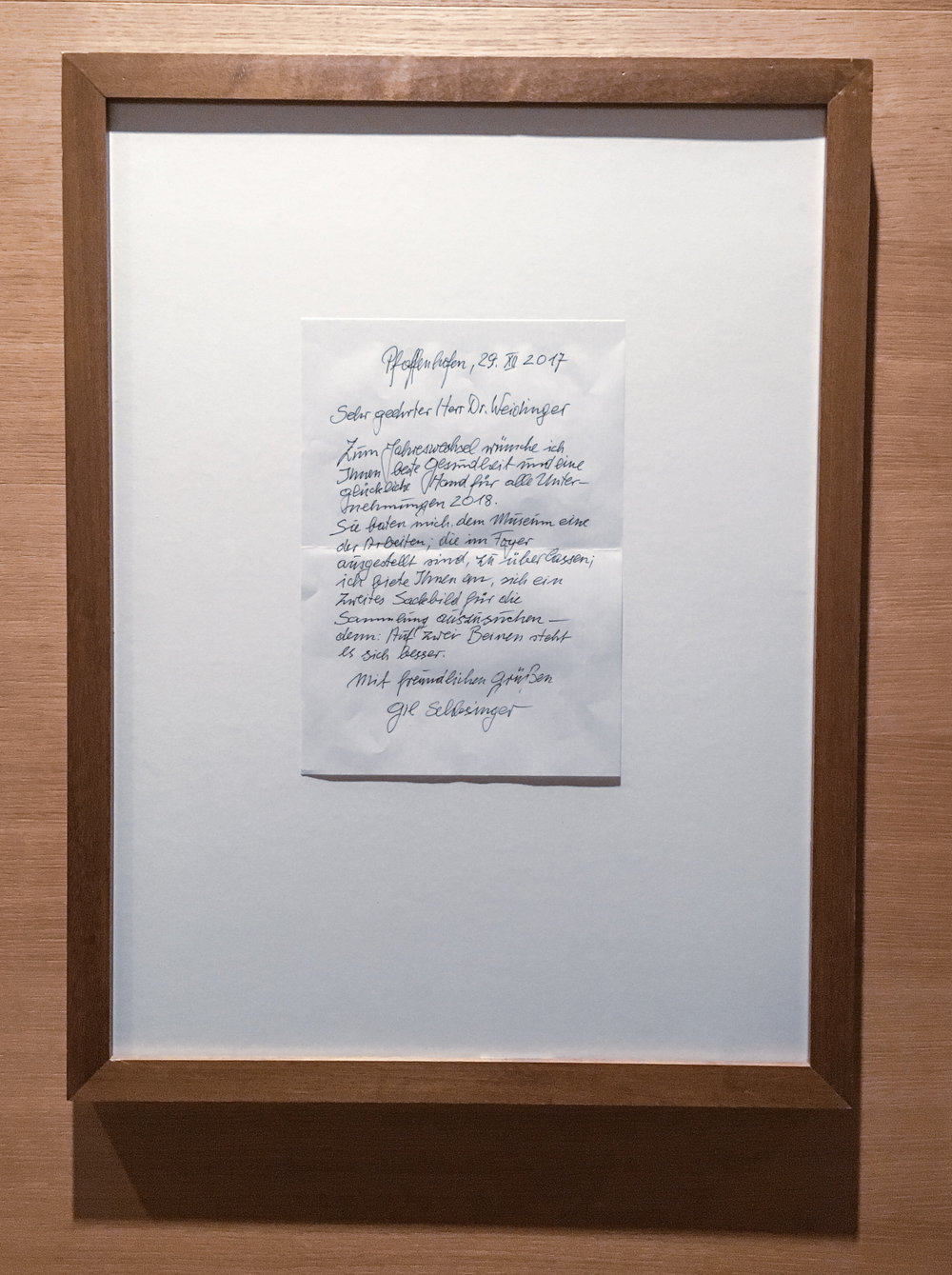 letter from artist in Leipzig