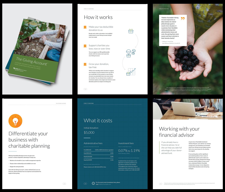 Fidelity Charitable Florencia Balseiro - Planned giving brochures templates