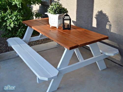 How To Finish A New Picnic Table Maxson Painting - How to stain a picnic table