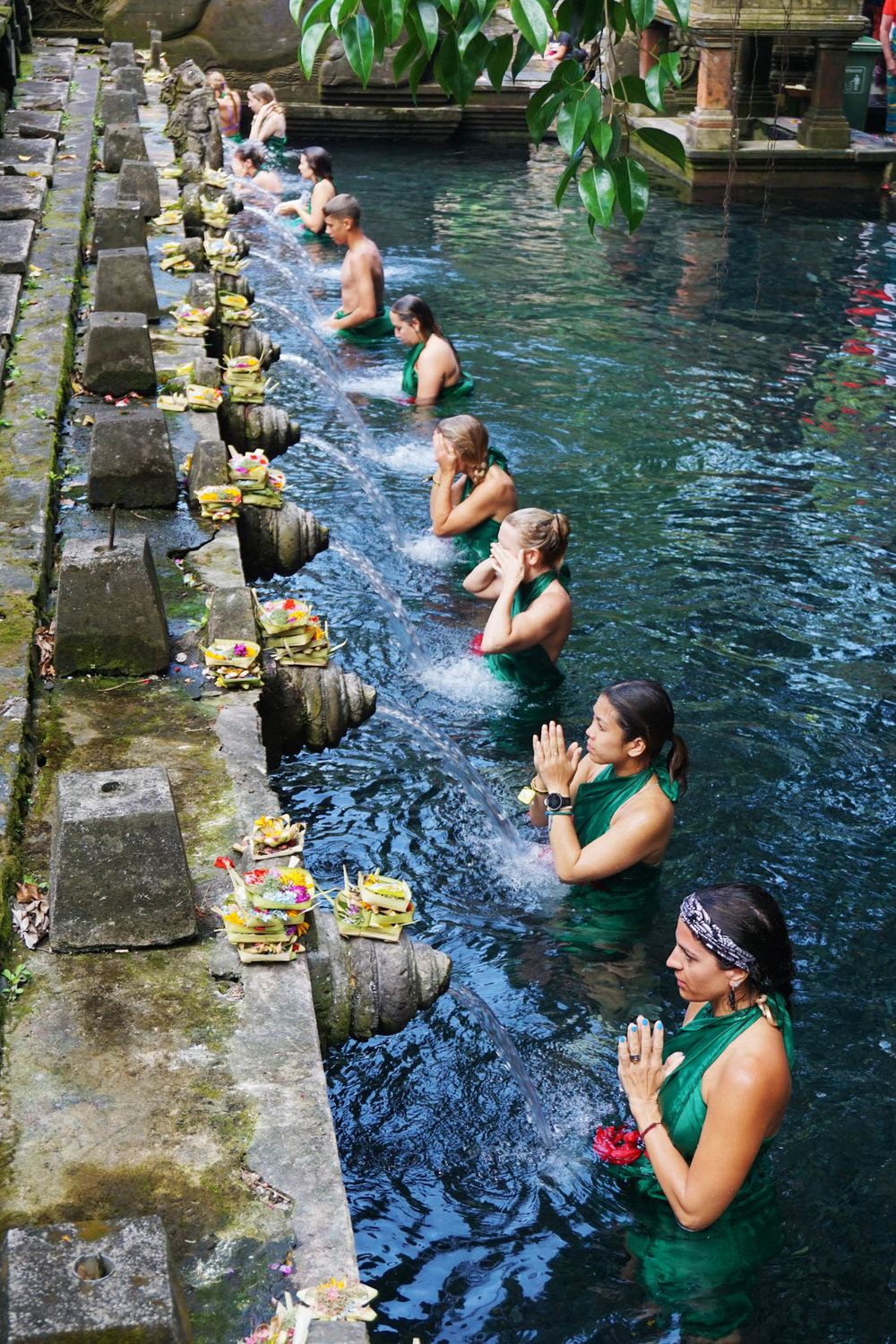 We were part of a very special Hindu Balinese tradition, the purification bathing ritual