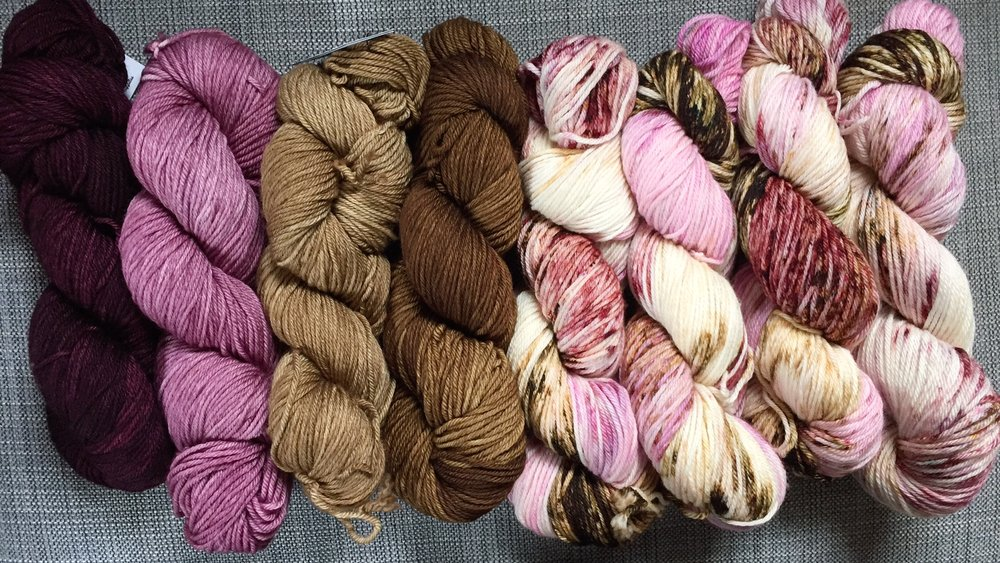 Backyard Fiberworks yarn for the Etta cardigan