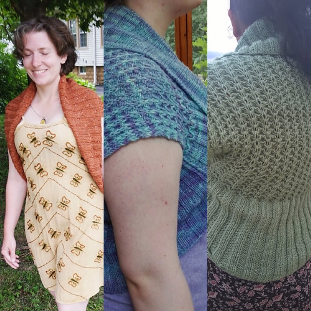 (l-r) Leeduck, Rainbow1907, and Niveknits on Ravelry