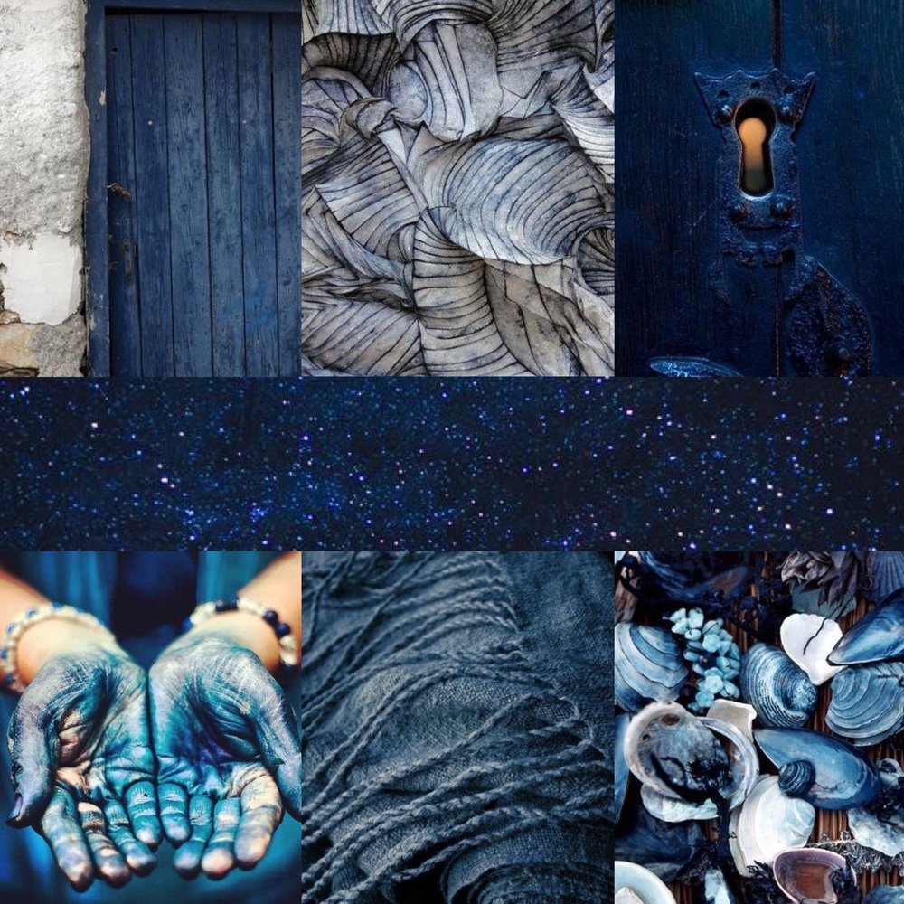 SOURCES: DOOR, TEXTURE,  KEYHOLE ,  STARS , SHELLS,  FABRIC , HANDS