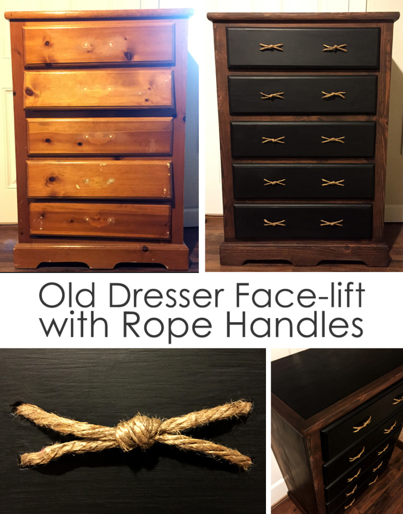 Old dresser facelift with rope handles- Taryn Brooke