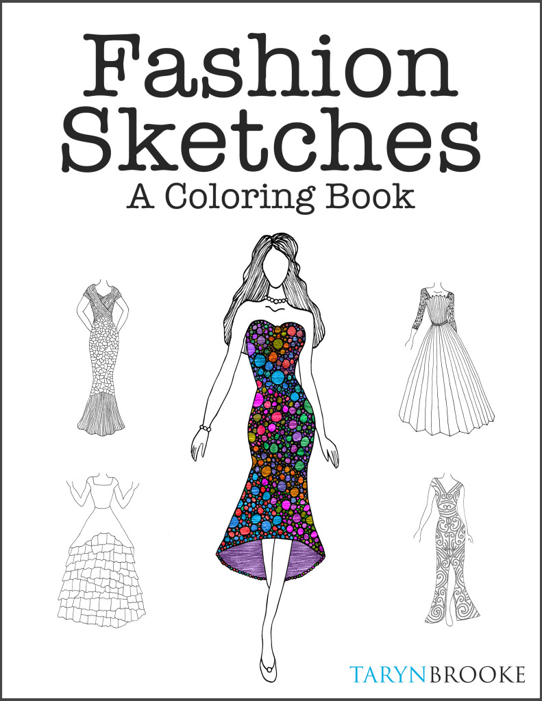 Fashion Sketches Coloring Book