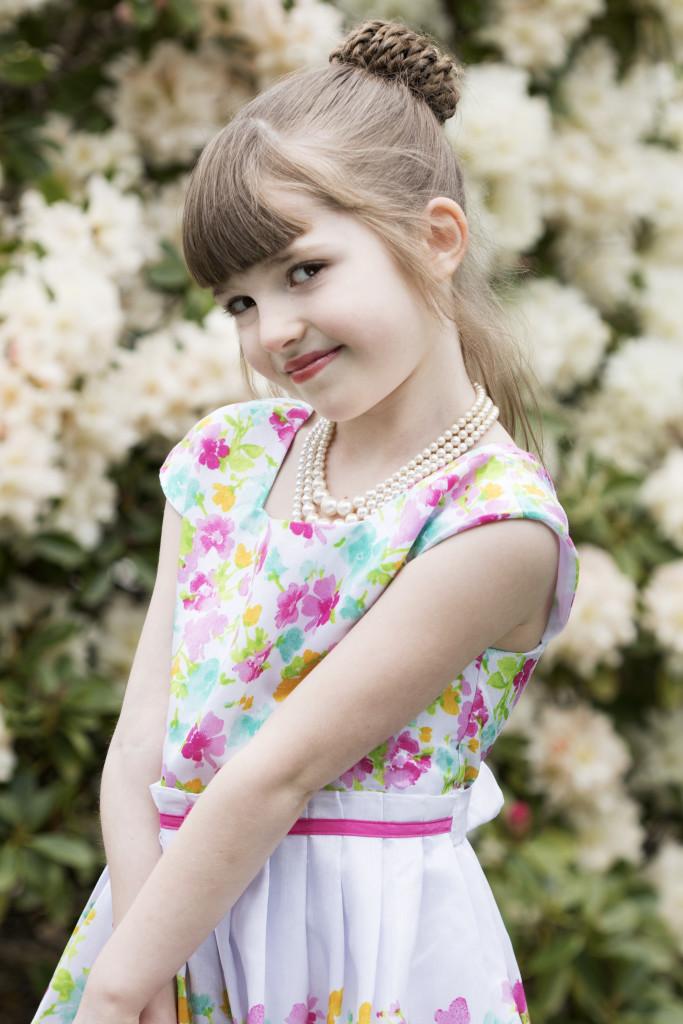 Little Girl in Spring Photo shoot