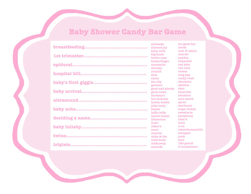 Cute as a Button Baby Shower Game