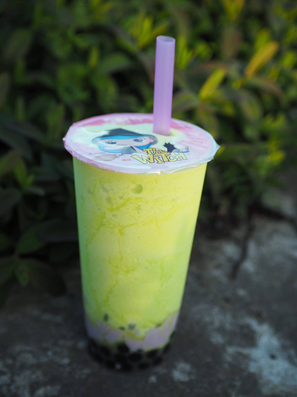 Honeydew Pear w/Boba and Taro Pudding