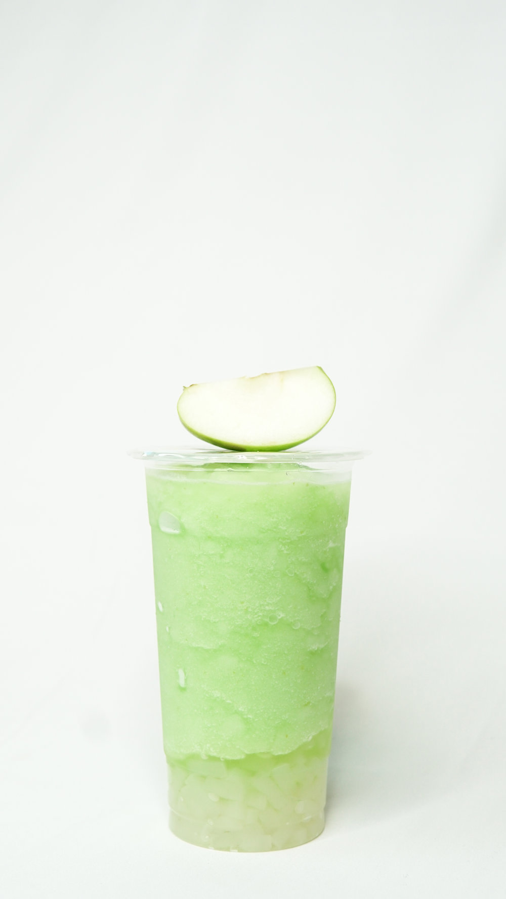 Green Apple Slush with Lychee Jelly