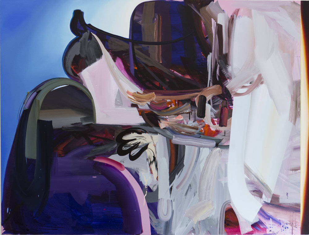 Purple Snicket Jammers , 2016,oil and acrylic on canvas,71 x 54 inches