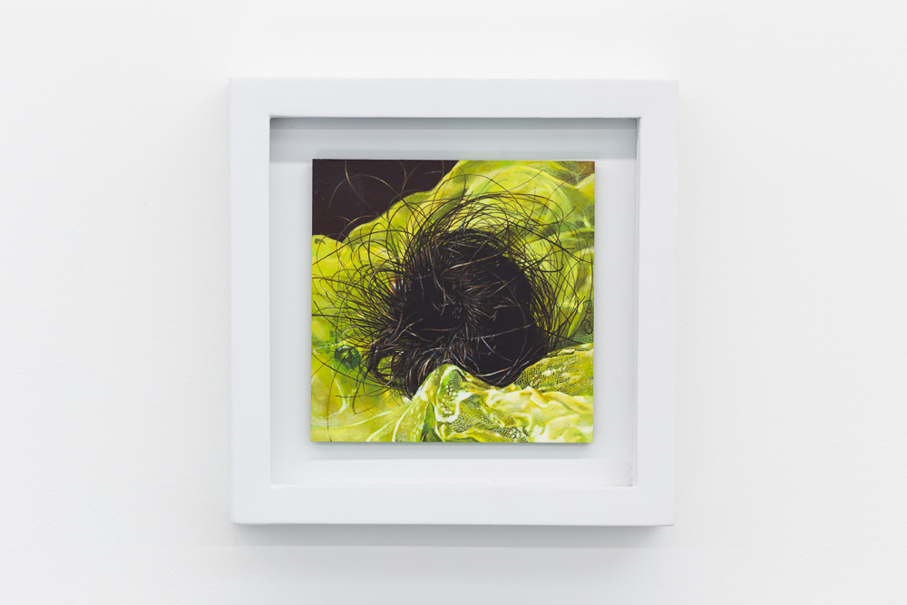Nest VII , 2016, acrylic on panel, 4x4 inches