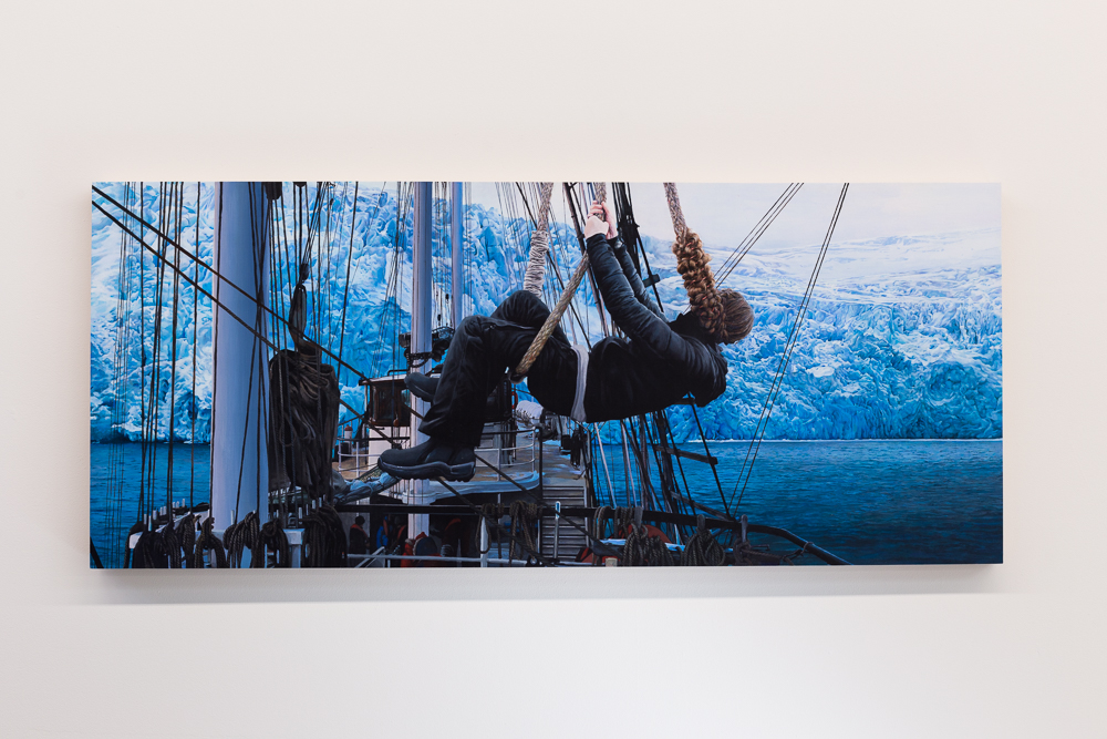 Part of the Ship , 2015, acrylic on panel, 18x60 inches
