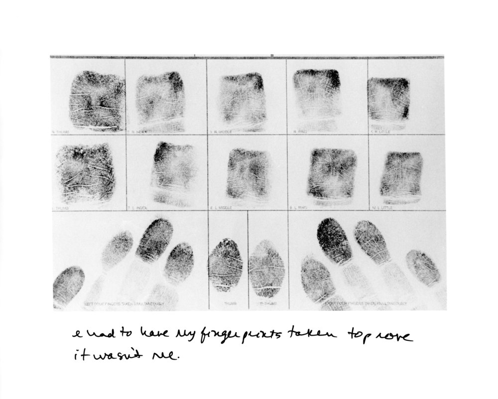 Fingerprints , 2013, gelatin silver prints, 8x10 inches, edition of 6