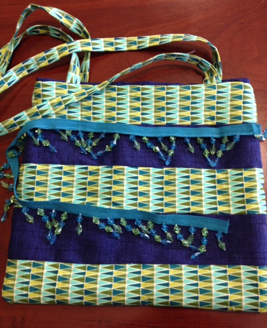 One bag ALMOST finished.  It just needs some beads to jazz it up.