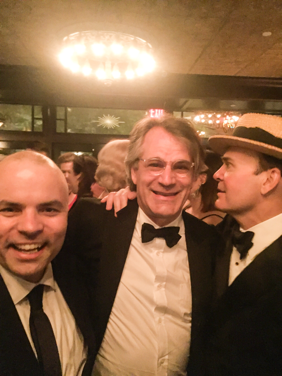 JT and Bart Sher (& Jefferson Mays) post-Tonys