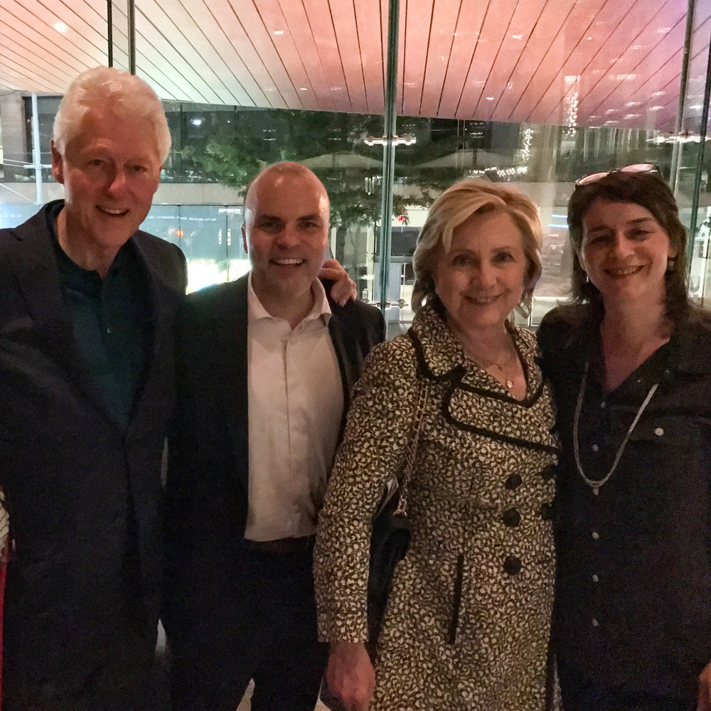 JT with The Clintons