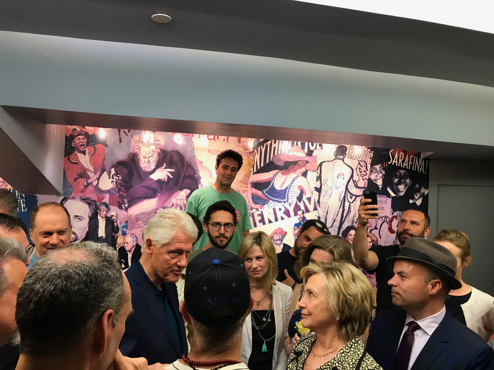 The Clintons visit 'Oslo'