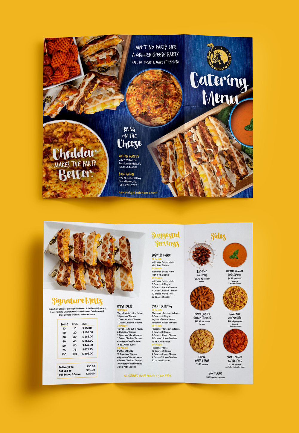 New York Grilled Cheese Catering Menu