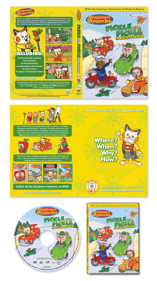 Busytown Mysteries DVD Package Design