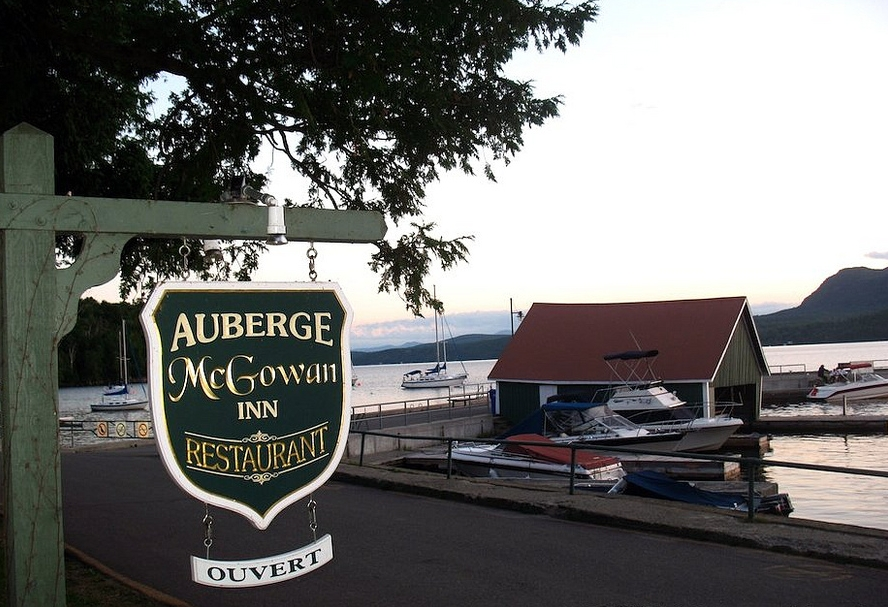 Auberge McGowan - This century old hotel is a historical gem. Maison McGowan boasts an excellent restaurant with a stunning view of the beautiful Lake Memphremagog. Go for supper and catch one of the incredible nightly sunsets.