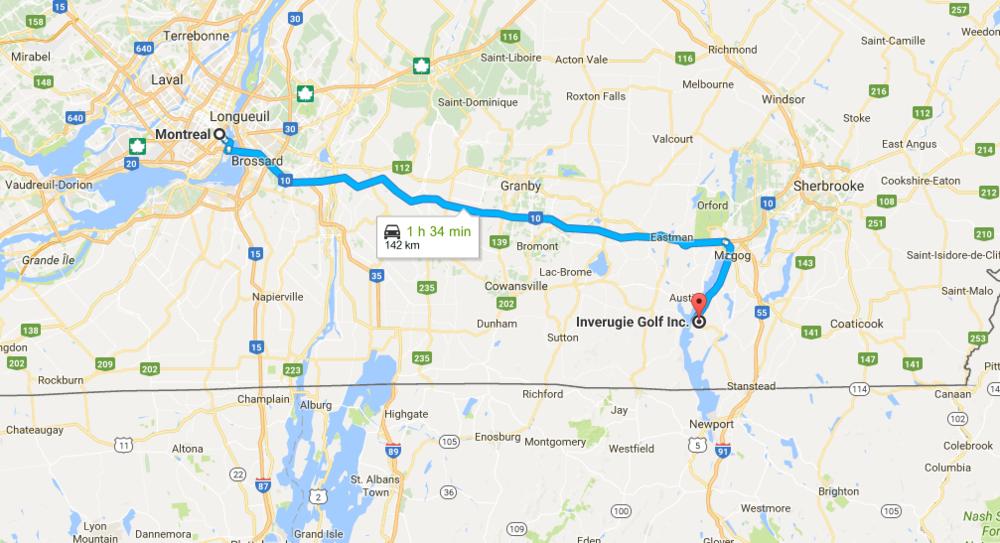 Commodément proche    de Montréal et du Vermont