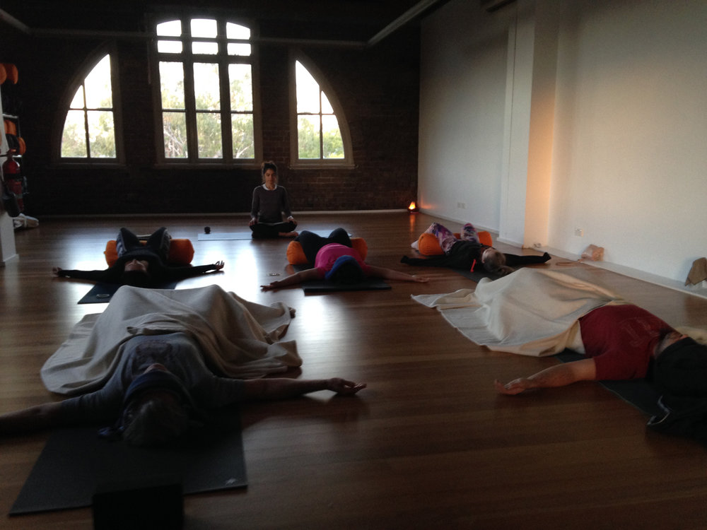 Starting the day with Catarina Sartor and her 6am morning class...