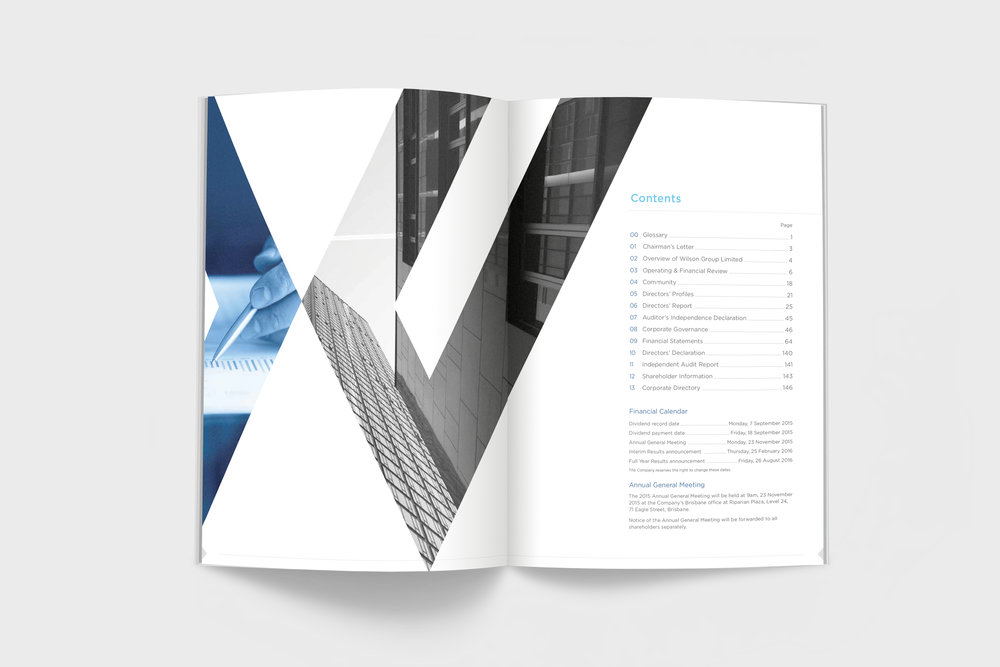 wilson annual report layout design shanti sparrow