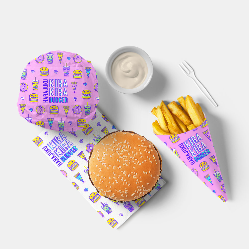Shanti-Sparrow-harajuku-kira-kira-burger-packaging-design