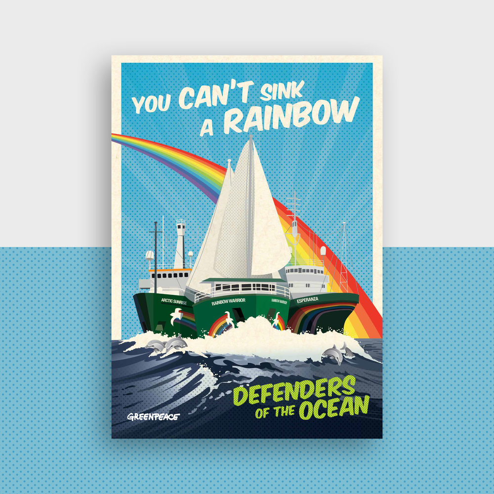 Shanti-Sparrow-greenpeace-rainbow-warrior-appeal-design